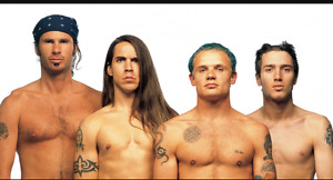 Red Hot Chilli Peppers Upper Level row 1