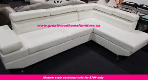 MODERN STYLE SECTIONAL WITH ADJUSTABLE HEADRESTS...$799