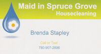 MAID IN SPRUCE GROVE RESIDENTIAL AND COMMERCIAL CLEANING