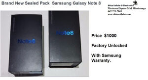 Brand New Sealed Pack Samsung Galaxy Note 8 1 year warranty Pric
