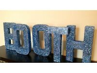 Blue glitter sequin PHOTOBOOTH sign, wedding, event, venue decor