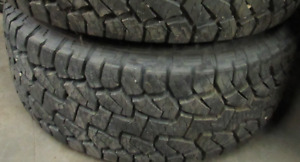 18 inch tires —2 of them—LT325-60-18(99 PERCENT TREAD) They are