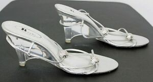 Bridal/bridesmaid shoes by Browns, metallic silver:Price reduced