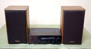 Awesome Technics Bookshelf Speaker Yamaha Receiver SEE VIDEO