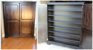 Solid Wormy Maple Shallow Pantry - Price Reduced to sell