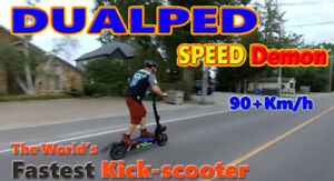 Dualped World's Fastest Kick Scooter