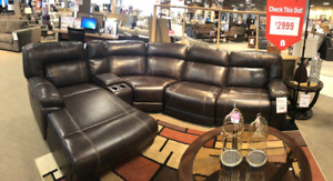 Brand new condition Kimba Leather Sectional Recliner Couch