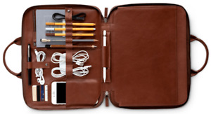 'THIS IS GROUND' men's Italian leather tech briefcase for sale!
