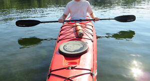 Wilderness Systems Tempest 170, paddle, skirt, pump, float