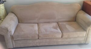 Quality Over Stuffed Sofa (Hide-a-bed), chair & ottoman.