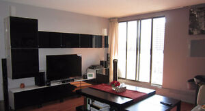 Downtown Apartment (Partially Furnished) 2 BR + 2Bath