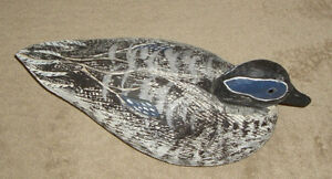 WOOD DUCK DECOY, Handcrafted, Carved & Painted,Glass Eyes