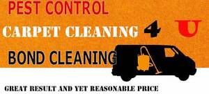 Bond cleaning, carpet and pest control