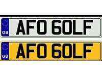 GOLF - A VERY RARE PRIVATE NUMBER PLATE FOR SALE