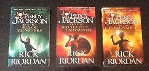 3 Percy Jackson books by Rick Riordan Springfield Mitcham Area Preview