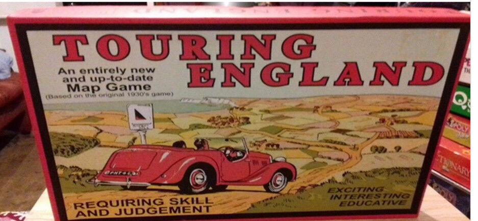 Touring England and race though london. old fashioned board game. christmas. gift.