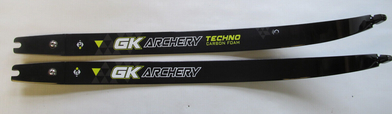 "New GK Archery Techno ILF carbon / foam limbs  68"" 38#"