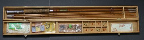 Vintage Bamboo Stream Master Spinning Fly / Casting Rod and Wood Case- Japan