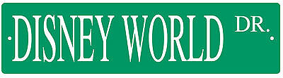 Disney World Florida Walt Disney Souvenir metal street sign