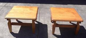 2 x Solid Timber Square Coffee Tables. VIC 3073 Reservoir Darebin Area Preview