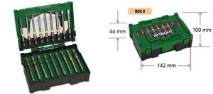 HITACHI  18 tlg Bit - Box 75mm lang , Pozidriv, Torx, Inbus, Bit-Set 400.300.22