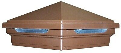 "Trex Deck Lighting Vintage Lantern 4""x 4"" Pyramid LED Post Cap Light"
