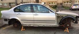 BMW 3 SERIES E46 325I M SPORT SILVER 2004 FOR PARTS BREAKING