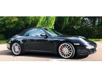 2009 REG PORSCHE 911 3.8S CARRERA CABRIOLET 997 (AUTO)FULL SERVICE HISTORY/EUROPE-SATNAV MOT2018