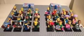Brand new and boxed. Lego Simpsons Minifigures series 1 & 2 complete sets
