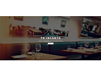 Full-time waiting staff at Italian restaurant in Harrow-on-the-Hill. Good salary + service charge!