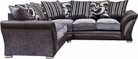 WHOA! 70% sale on!! -BLACK & GREY SHANNON CORNER AND 3+2 SOFA - CASH ON DELIVERY- GET IT TODAY
