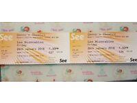 2x Les Mis tickets