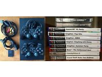 PlayStation 2 + controllers + memory card + games (any offer considered)