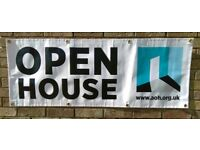 Artists Open House PVC Banner Horizont