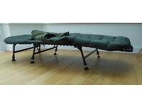 NEW UNUSED, CARP FISHING 6-LEG BEDCHAIR - SLEEP SYSTEM WITH DUVET! 6-leg, strong, light