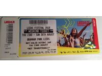 Leeds festival ticket 2018, Weekend ticket. Thu 23- Sun 26 August