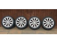 Genuine 17 inch Volkswagon Dijon Alloy wheels