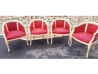 4 Matching Tub Chairs Dining Living Room