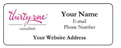 60 Personalized Thirty-One Consultant Address Catalog Return Labels