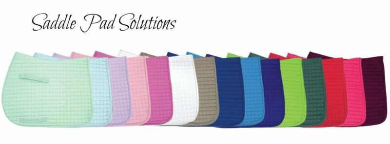 Colorful English Saddle Pads in 3 Sizes: Dressage | All-Purpose | Pony - PRI
