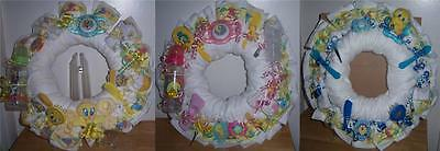 Diaper Wreaths (Baby Shower Looney Tunes Diaper Wreath, Taz, Tweety, Bugs Bunny,)