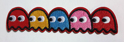 """Packman Logo 4"""" Embroided Patch with 5 Packmen (PackManPA-01)"""