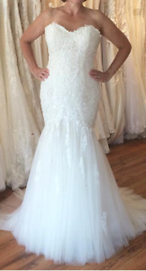 Maggie Sottero Fit and Flare Wedding Dress Size 10 Never Worn