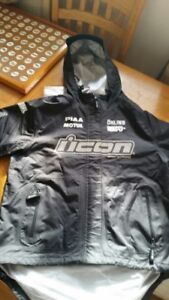WOW- NEVER WORN ICON BIKE PANTS AND COAT MEDIUM