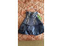 Brand new silky navy dress - with original tags