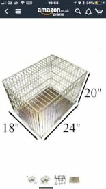 SMALL COLLAPSIBLE DOG CAGE / CRATE 24 x 18 INCH