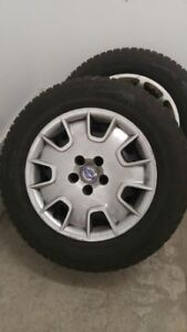 215/65R16 GISLAVED NORDFROST TIRES AND RIMS WITH CAPS FOR VOLVO