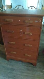Solid wood single bed and matching dresser