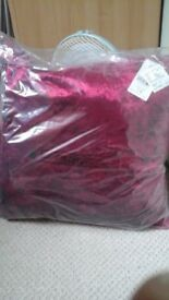 brand new unsed cusions for sale 4 rasberry and 3 silver grey cost £18 except £9 each