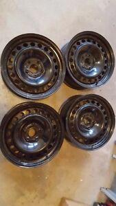 4 Ford Explorer Black Steel Wheels